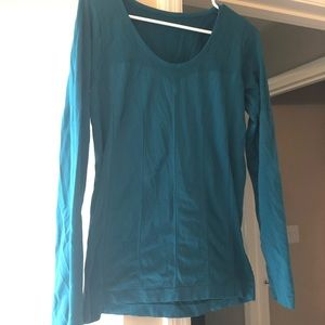 Teal Fabletics Long Sleeve Top